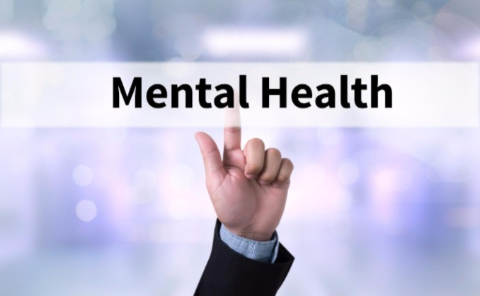 Man's finger pointing to mental health: WorkingManLaw Workers' Compensation and Injury Info Blog