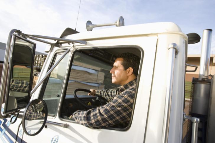 Male-Worker-Driving-Truck