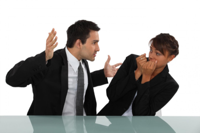 Female employee berated by co-worker: WorkingManLaw Employment Law Blog