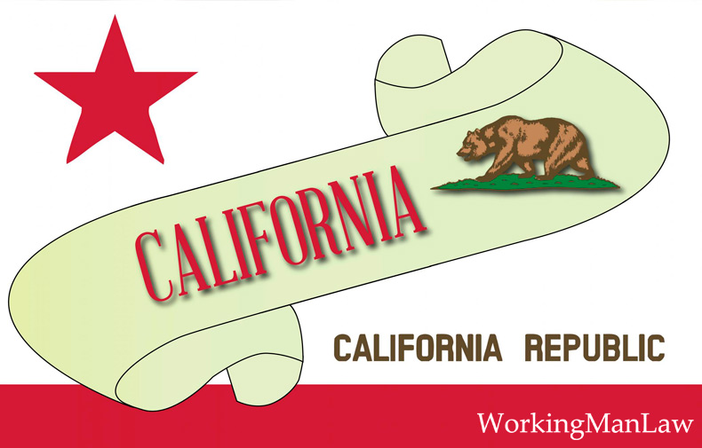 "banner that reads ""California"" with state flag image"