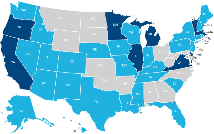 state-by-state breakdown of work-related PTSD